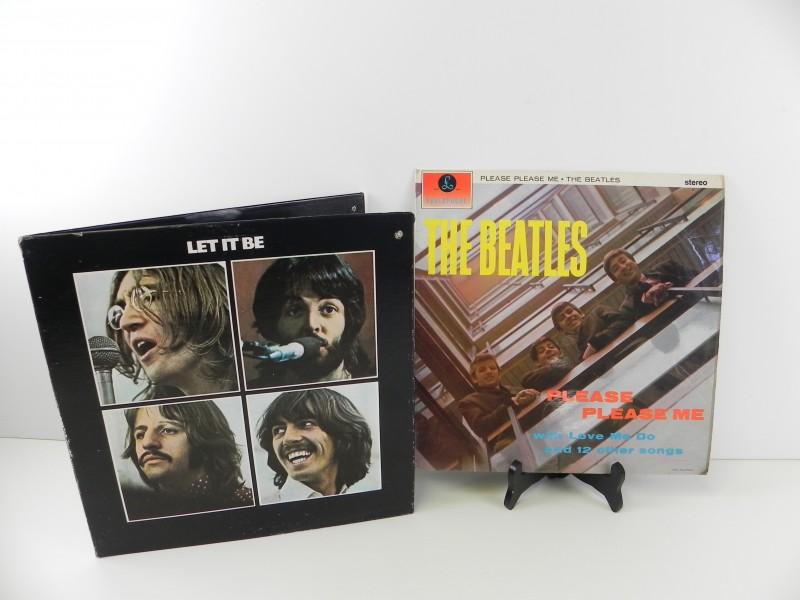 2 lp's - The Beatles: please please me + let it be