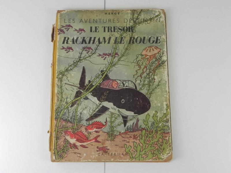 Hergé: Tintin: le tresor de Rackham Le Rouge 1947 vroege herdruk