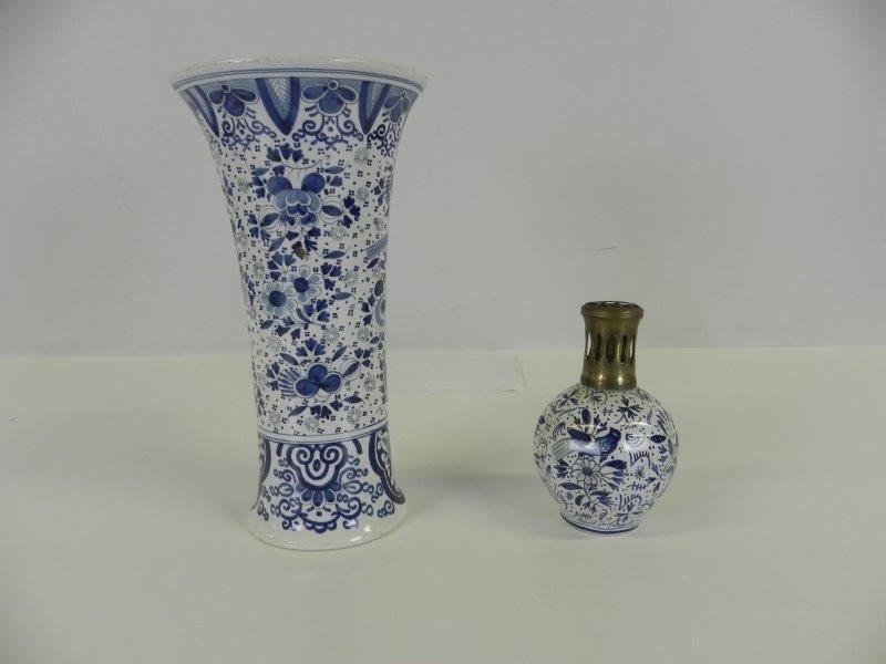 Antieke vaas en olielamp Boch