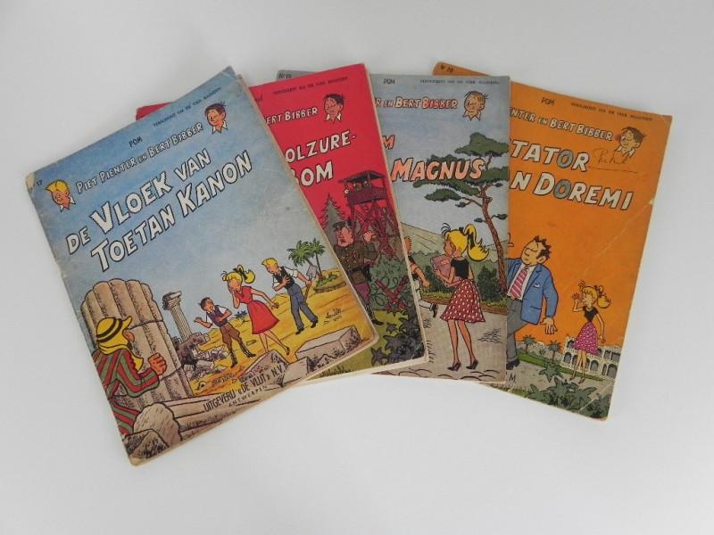 Pom lot 1: Piet pienter en Bert Bibber: 4 strips 17 tot en met 20 eerste druk