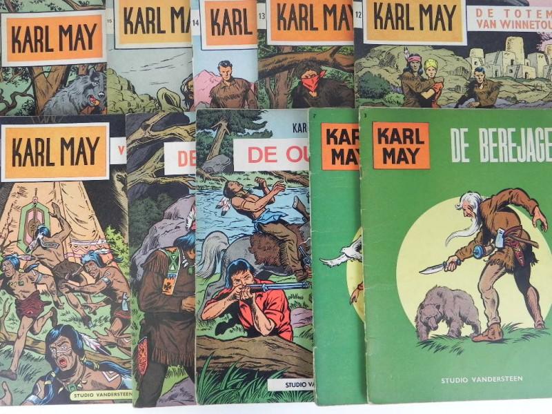 Studio Vandersteen: 10 x Karl May eerste druk jaren '60 3 7 9 tot en met 16