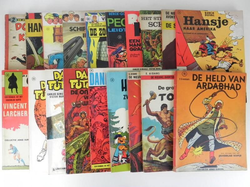 19 x strips uit het weekblad Kuifje jaren '60 '70 twee ervan gesigneerd door Berck en Craenhals