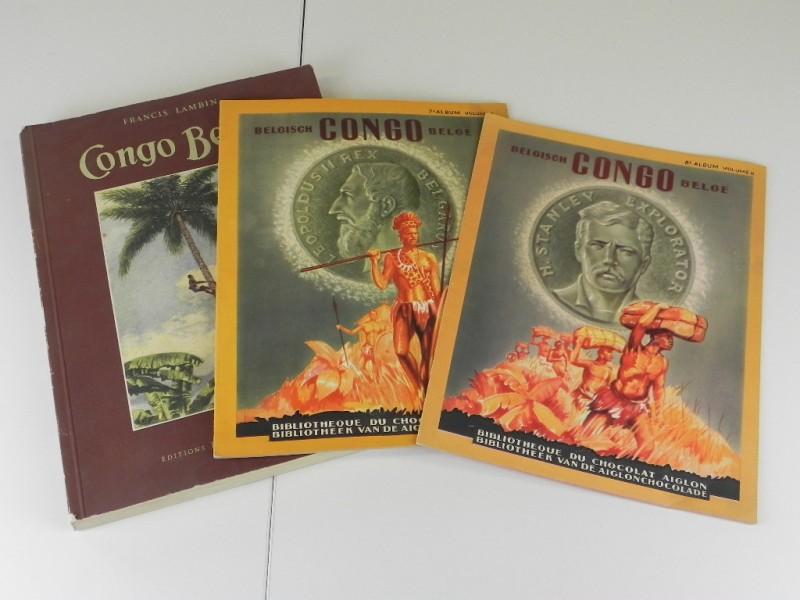 Belgisch Kongo: één boek 1948 en  twee chromoalbums