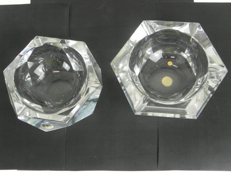 Kristallen asbakken Val Saint Lambert