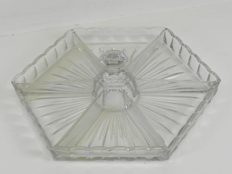 Kristallen hapjes schaal Val St. Lambert