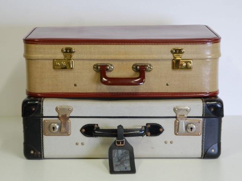 2 Vintage valiezen in heel goede staat