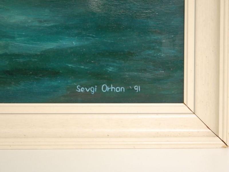 Schilderij plezierjacht - Sevgi Orhan '91