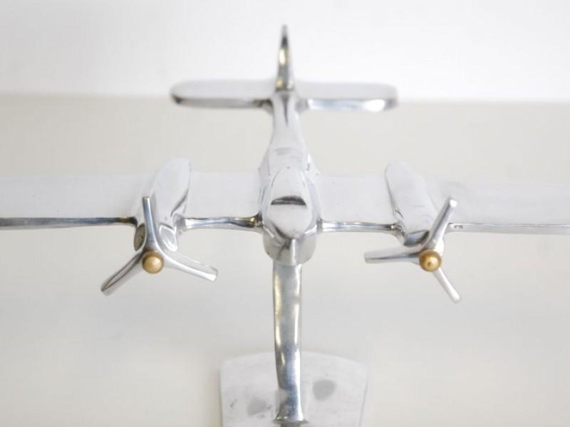 Vintage vliegtuig op staander - art deco
