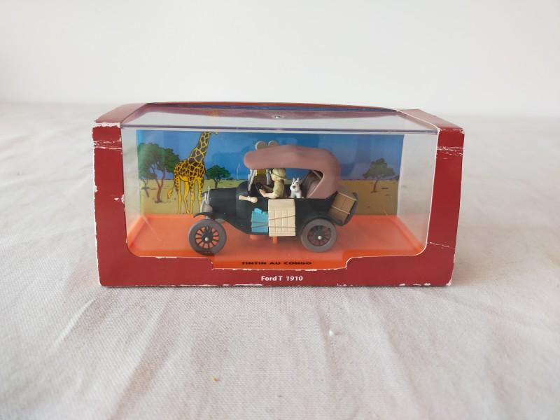 Kuifje/Tintin au congo Ford T 1910 model auto