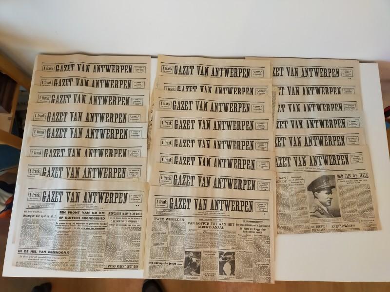 Gazet van Antwerpen van 6/9/1944 tot 1/10/1944