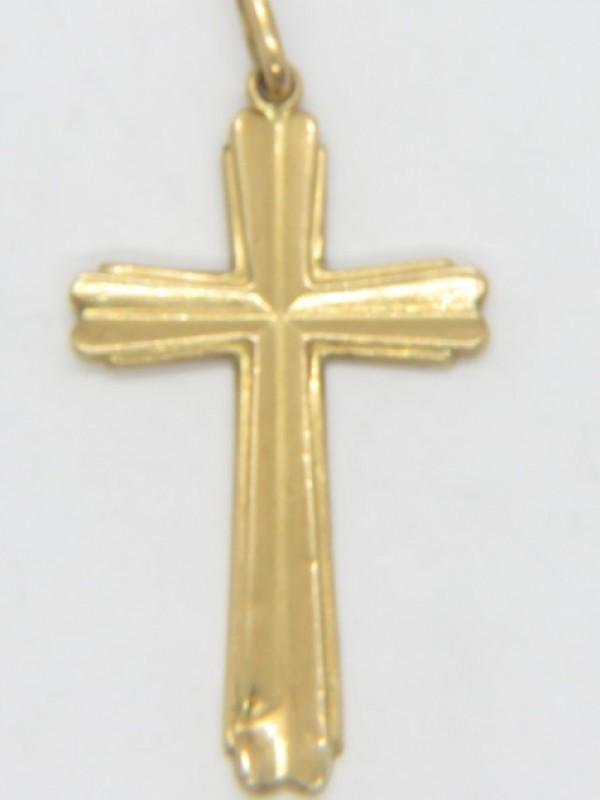 Gouden kruis 18 kt