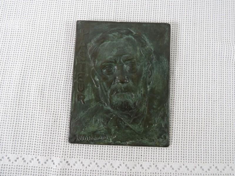 Bronzen plaat Pasteur
