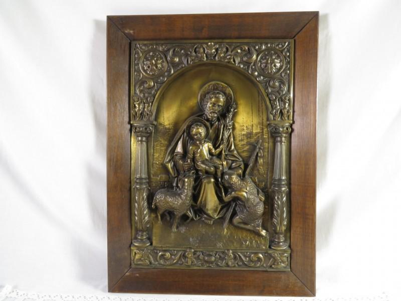 Kader met religieuze afbeelding in relief