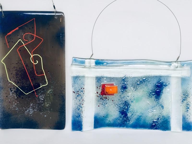 2x Glass-Art Yvan Royon