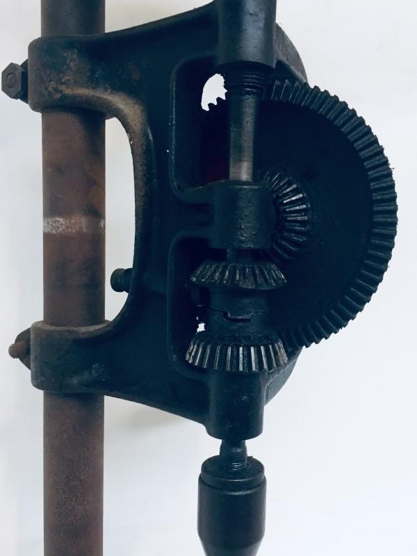 Vintage Handboormachine Met Rode Draaicirkel