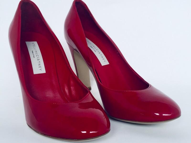 Red Leather Pumps Gemerkt Stella McCartney