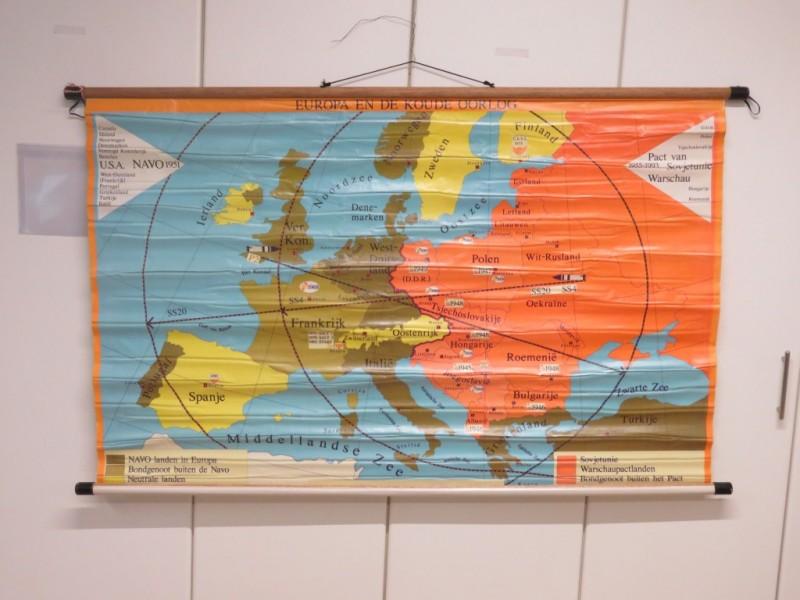 Schoolkaart - Europa en de koude oorlog