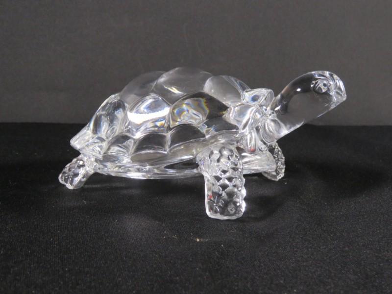 kristallen beeldje schildpad