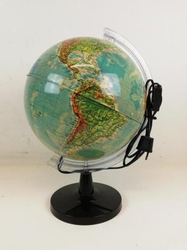 Vintage plastieken wereldbol lamp