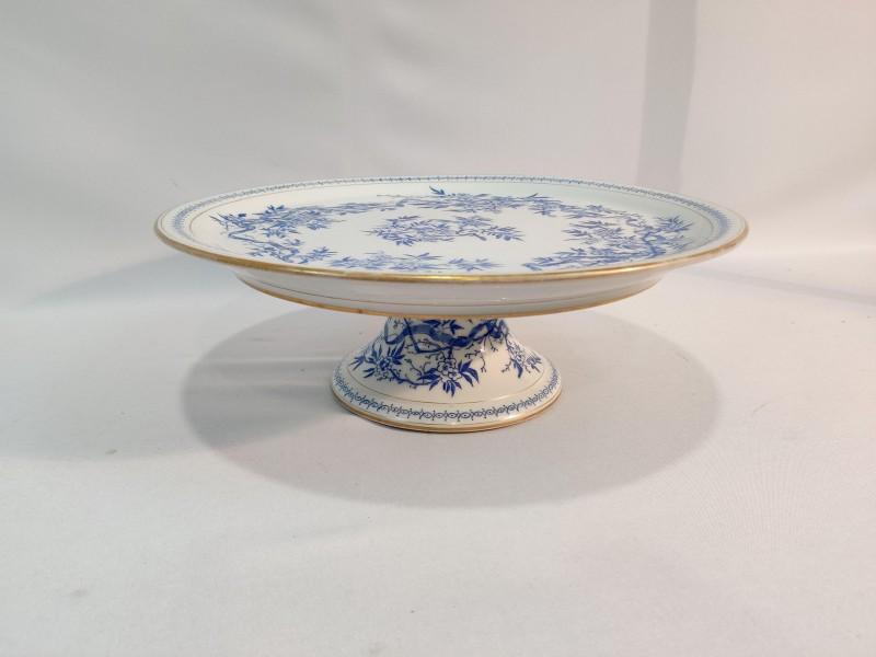 etagere, wit blauw porselein, Valérie Thuysbaert
