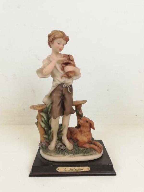 A. Sabatini - beeld van jongen met hond