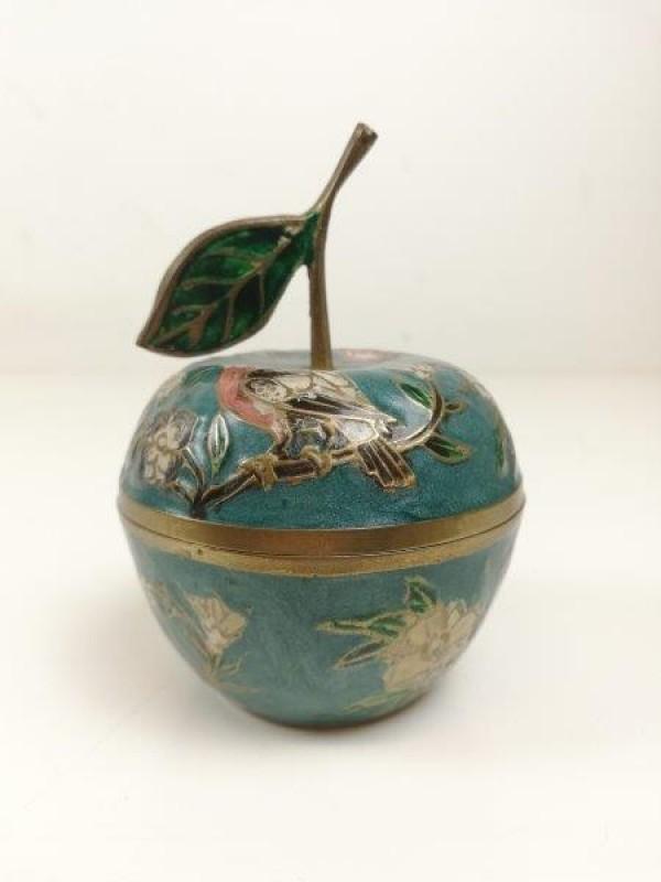 Vintage appelvormig juwelenboxje