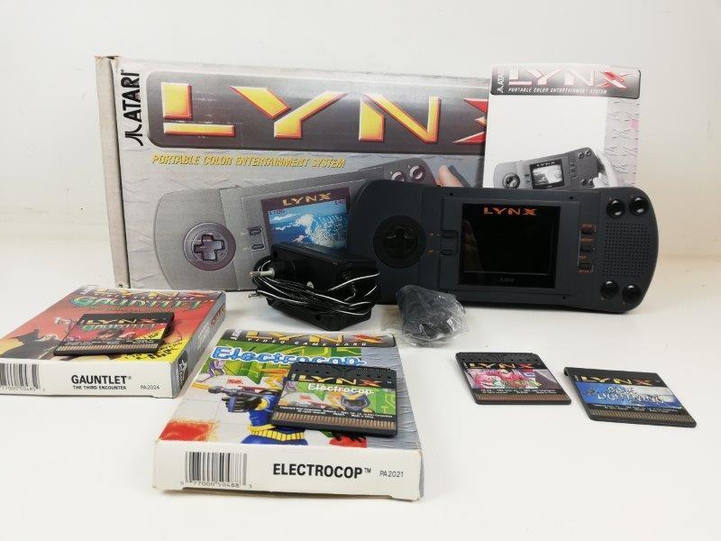 Atari lynx console met 4 games