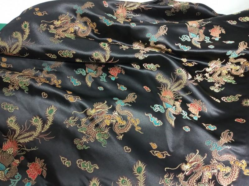 Lot stof met chinees patroon