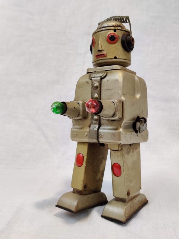 Vintage blikken speelgoed robot, jaren '50