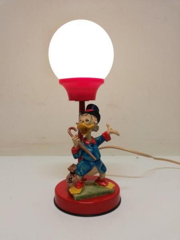 Vintage Walt Disney Dagobert Duck tafellamp