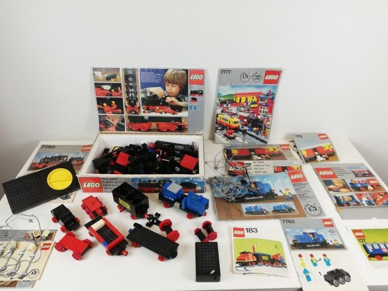 Lot lego vintage treinonderdelen