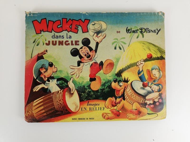 Vintage 1955 Mickey dans la jungle