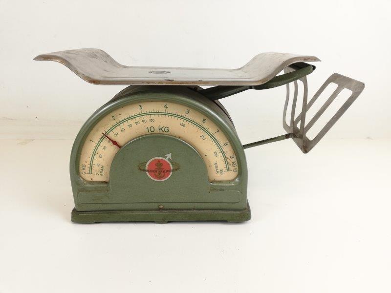 Vintage weegschaal The Golden E Anchor