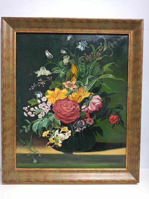 Stilleven : vaas met bloemen