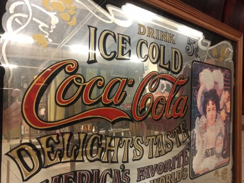 "Reclame spiegel "" Coca Cola"""