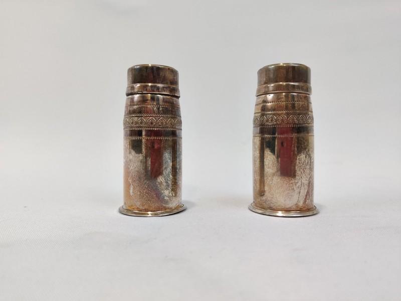 Zilveren Peper en zoutvatjes