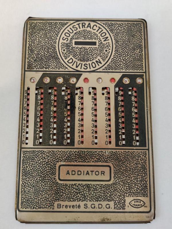 Addiator, mechanisch rekenmachine