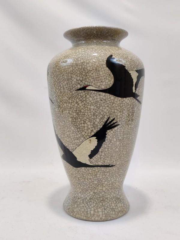 Vaas, decor kraanvogels