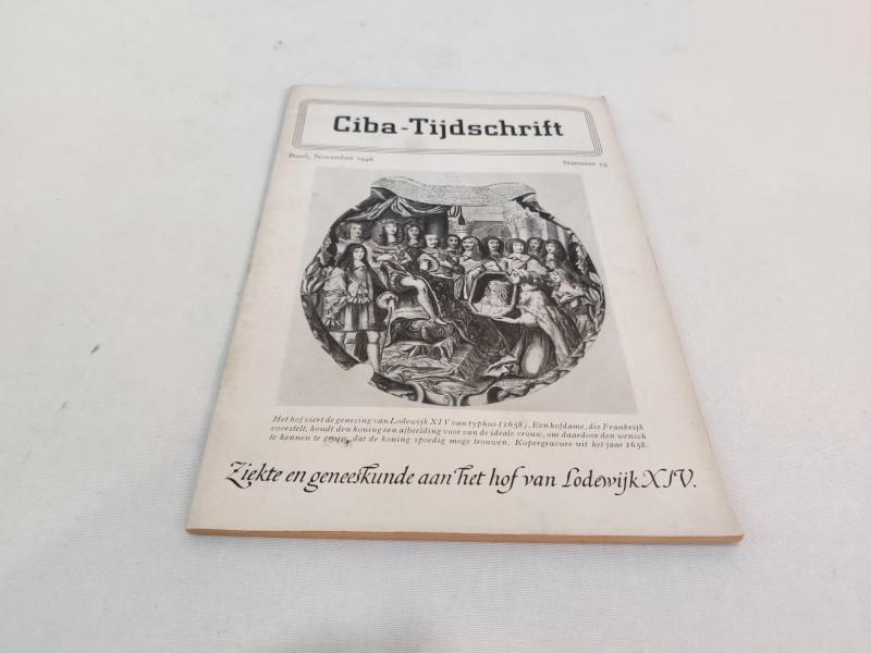 """Tijdschriftje: 1946  """"Ziekte en geneeskunde aan het hof van Lodewijn XIV"""""""