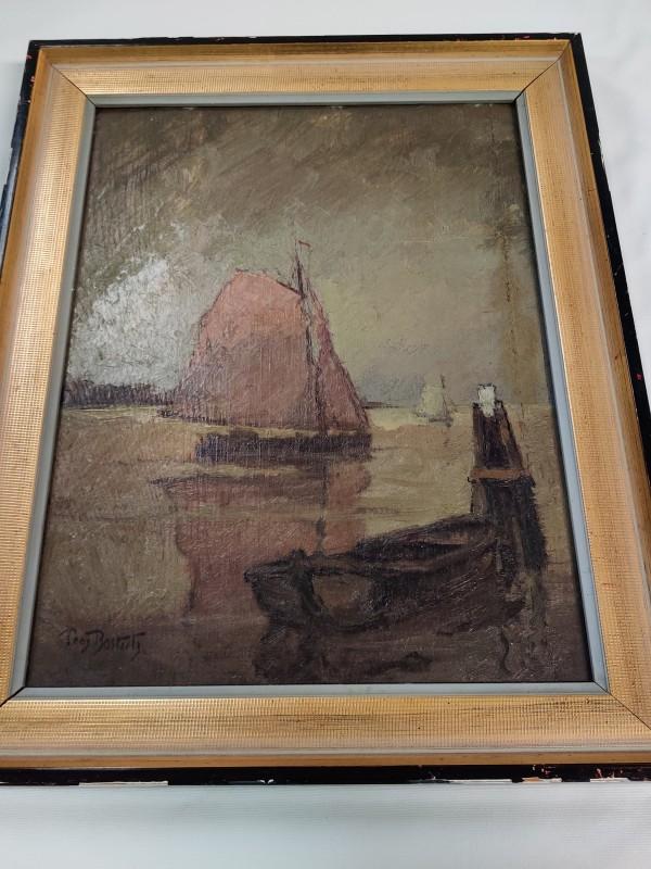 """Schilderij Zeilboot """"Pros Bosteels"""""""