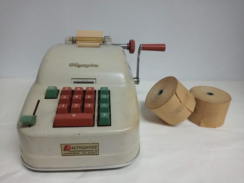 Vintage rekenmachine Olympia