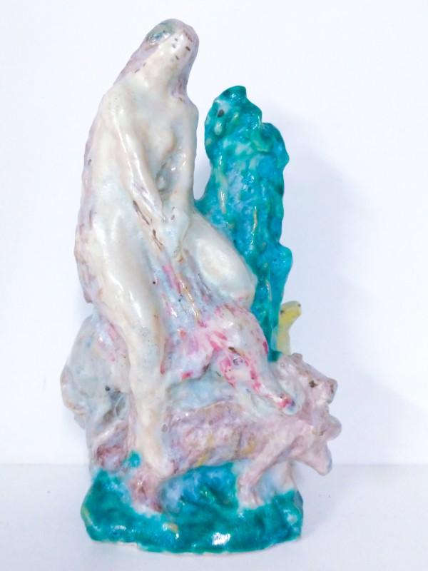 Majolica beeldje, gesigneerd: Ceramiche Ungania