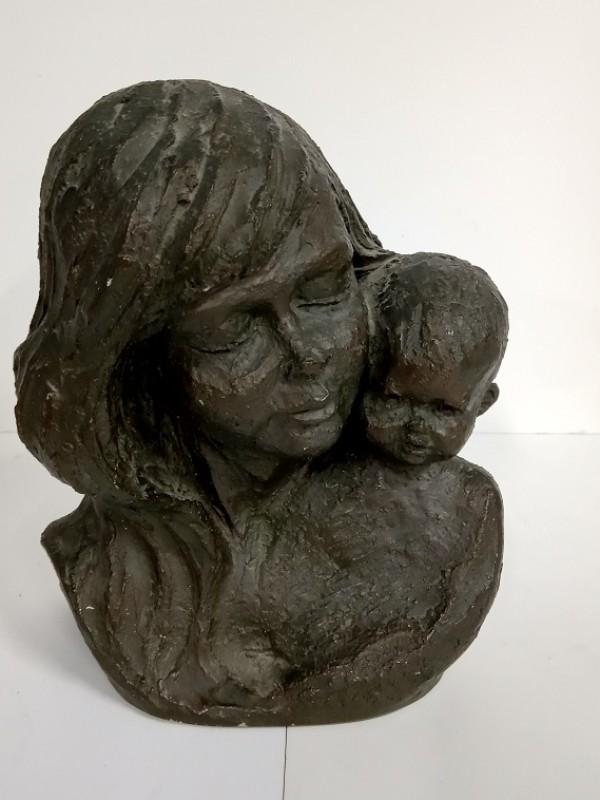 Geert Kunen - Roel sculptuur/beeld - moeder met kind