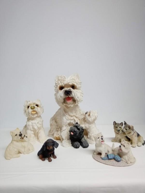 verzameling van 6 honden (beeldjes)