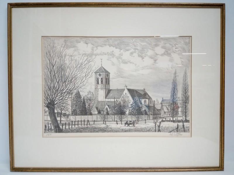 """Litho """"Jaar van het Dorp"""",14/55 Antoon Luyckx (Borsbeek)"""