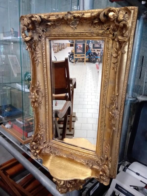 Spiegel met Barok kader goudkleurig