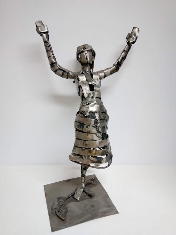 modern ijzeren kunstwerk (dame)