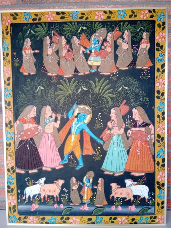 Indisch tafereel op doek