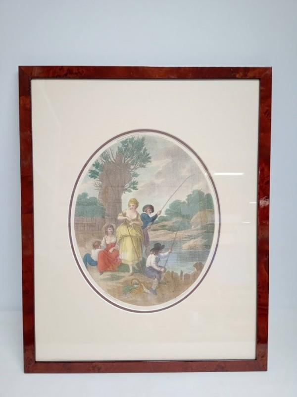 oude gravure, (vissers) W. Hamilton