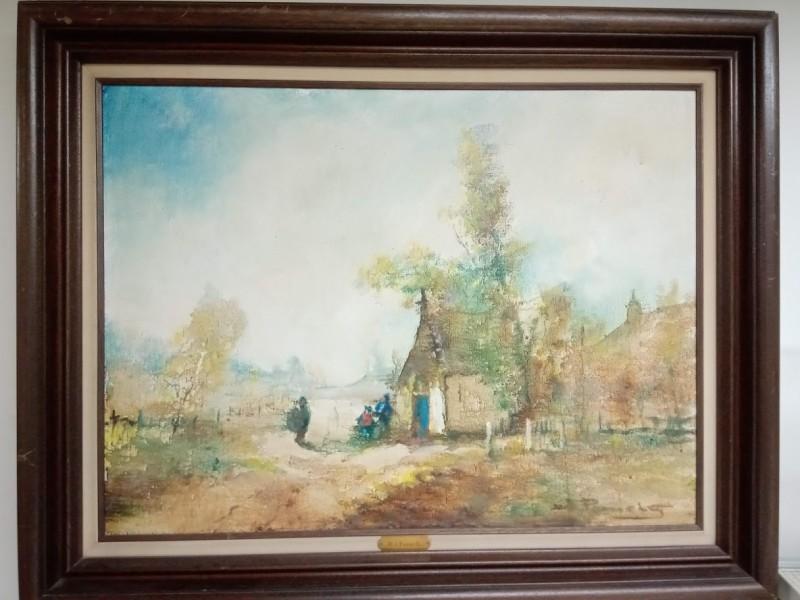 groot schilderij : boerderij van H.J. Pauwels